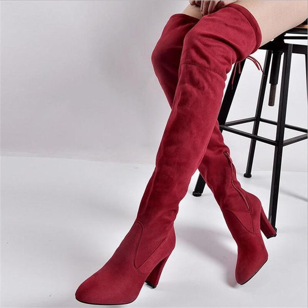 Sexy Female Thigh High Over the Knee Boots -  AboutTheSHOES