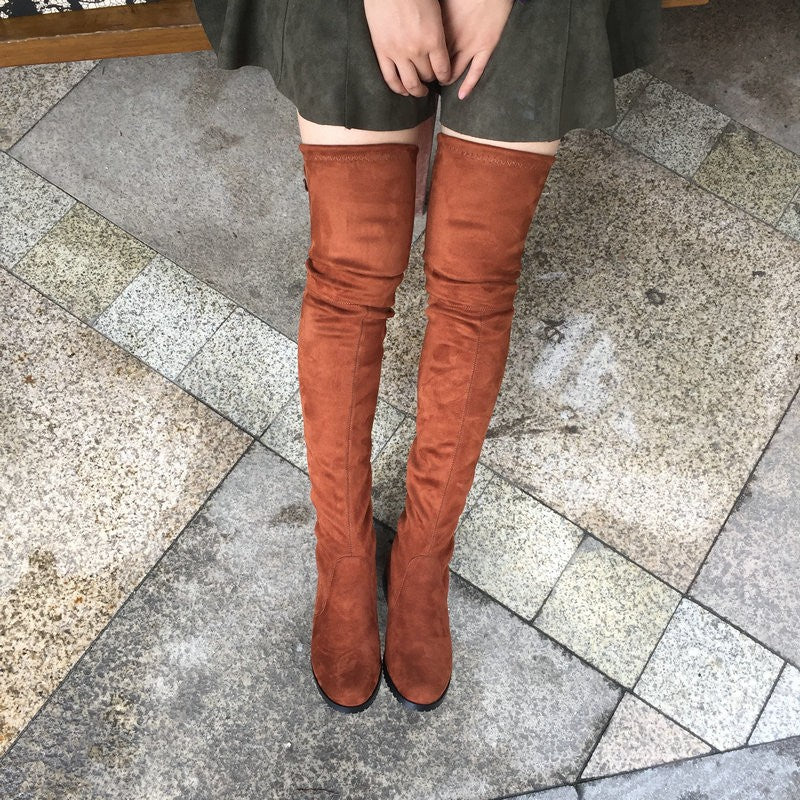 Thigh High Flat Boots Women Over the Knee Boots -  AboutTheSHOES