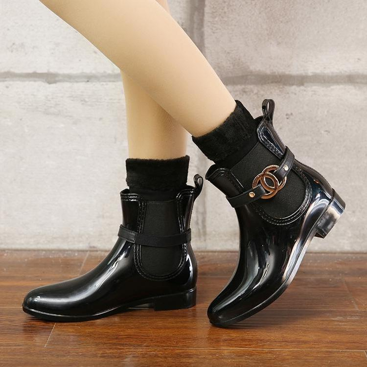 Walking Waterproof PVC Ankle Martins Rainboots -  AboutTheSHOES