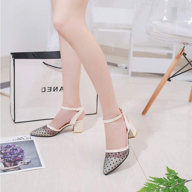 High-heeled shallow mouth pointed pumps -  AboutTheSHOES