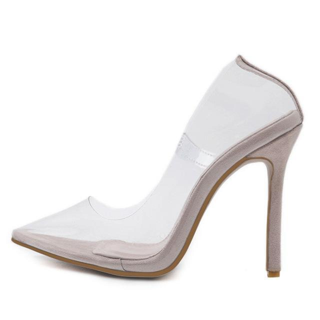 Eilyken Clear PVC Transparent Point Toes Pumps -  AboutTheSHOES