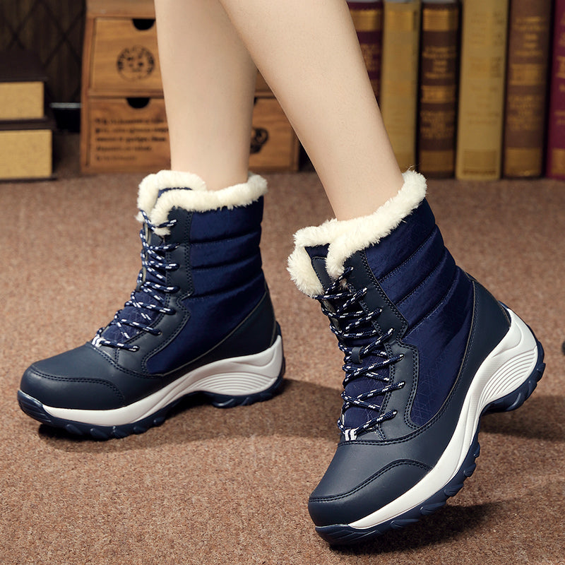 White winter boots woman snow boots -  AboutTheSHOES