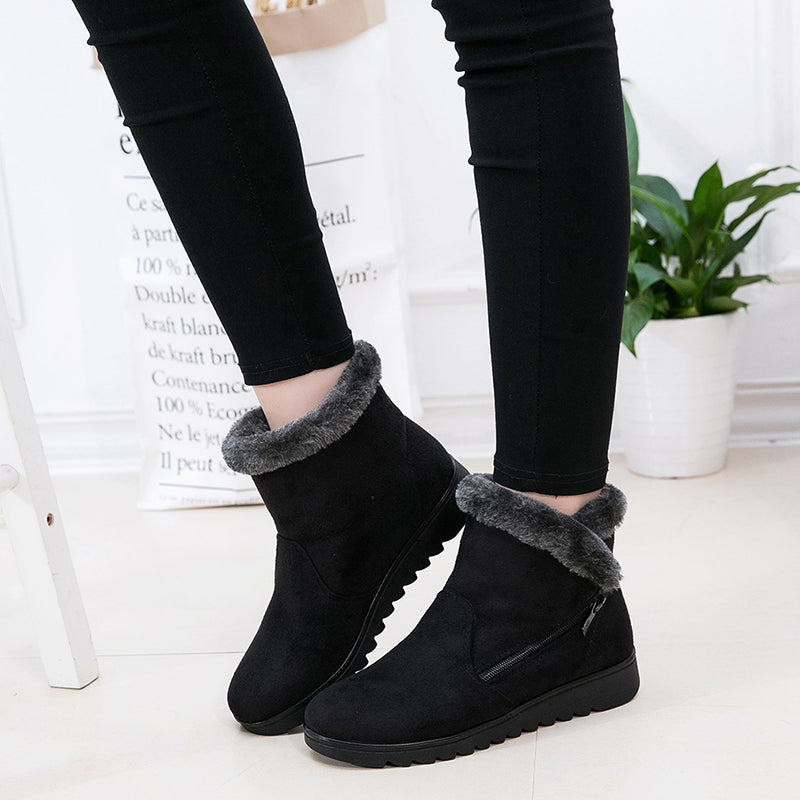 Platform Rubber Warm Ankle Boots -  AboutTheSHOES