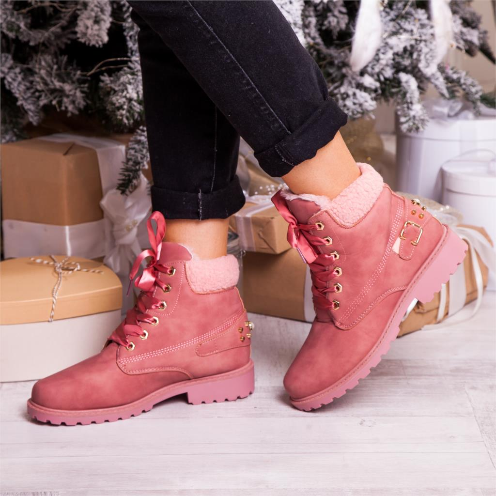 Round Toe Lace up Solid Casual Ankle Boots -  AboutTheSHOES