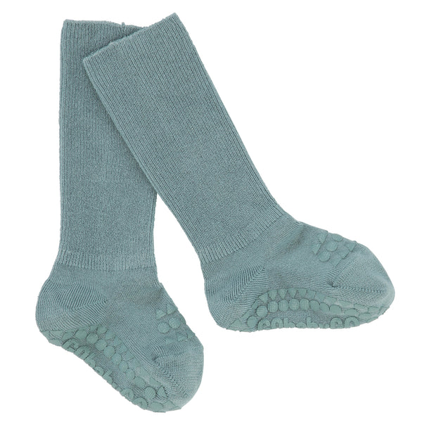 Rutschfeste Socken Bambus - Dusty Blue