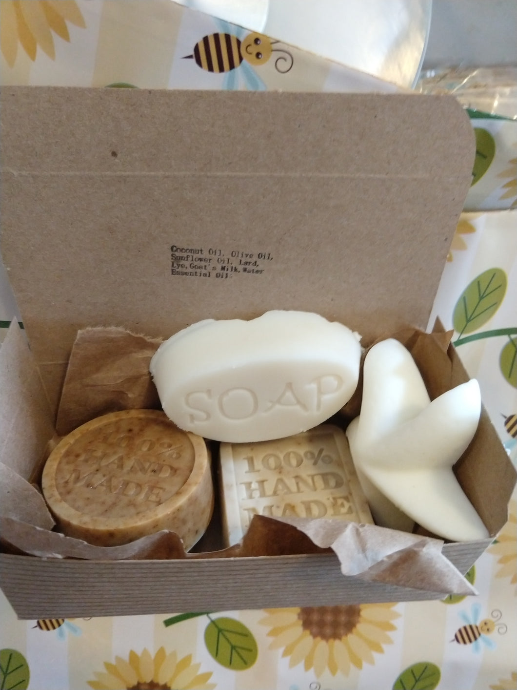 3 Soap Sample & 1 Conditioning Bar Gift Box Shampoo & Body Bars