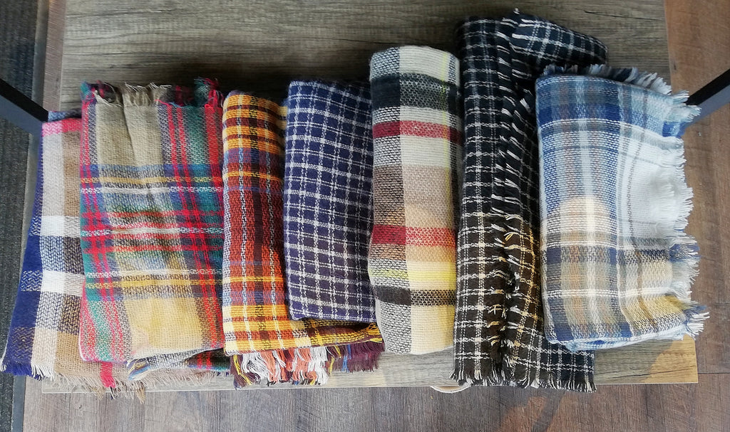 Plaid Blanket Scarf - MISH Fashion and Swim