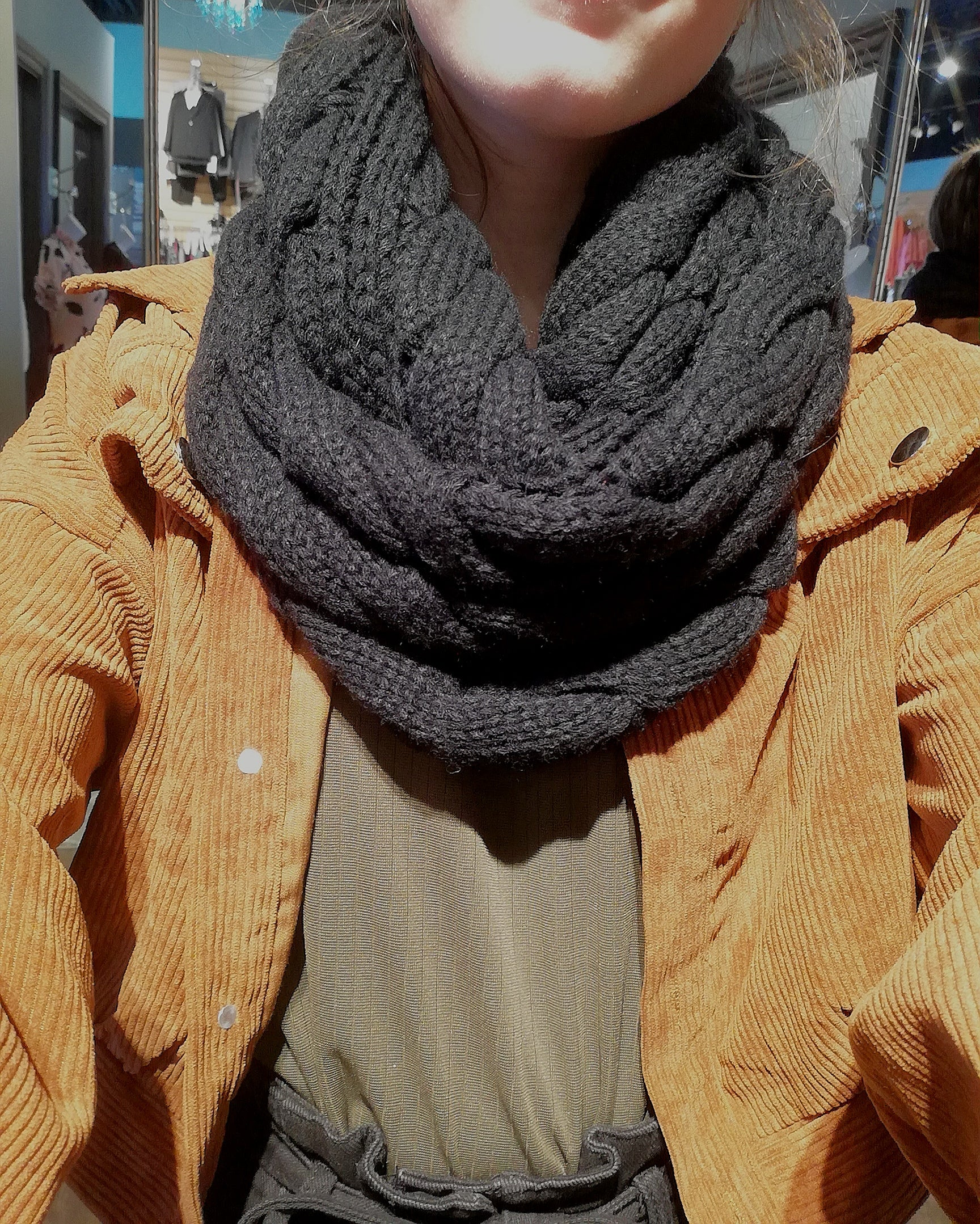 Thick Knit Infinity Scarf - MISH Fashion and Swim