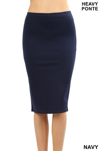 Kaylah Pencil Skirt - Navy - MISH Fashion and Swim