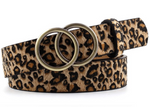 Simple Double Ring Belt Leopard - MISH Fashion and Swim