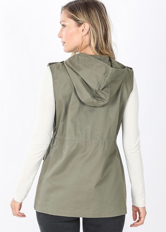 Detailed Cargo Vest (2 colors available) - MISH Fashion and Swim