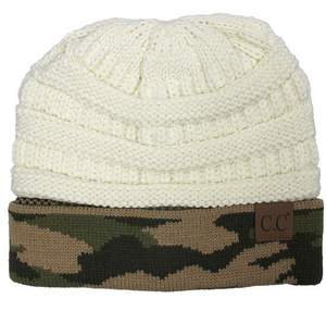 Camouflage Cuff Knit Beanie - MISH Fashion and Swim