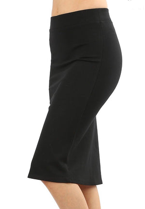 Kayla Pencil Skirt - Black - MISH Fashion and Swim