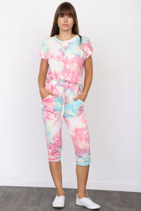 Alexia Tie Dye Capri - MISH Fashion and Swim