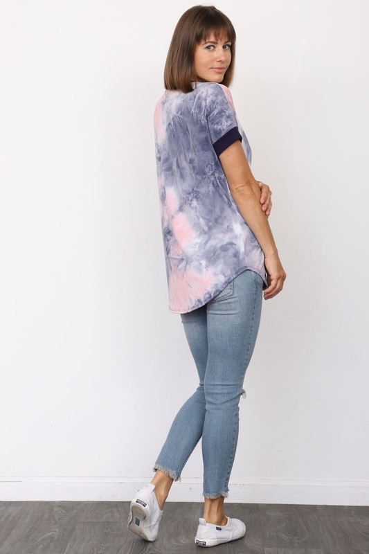 Addie Tie Dye Tee - MISH Fashion and Swim