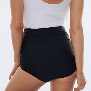 Black Ruched Swim Bottom - MISH Fashion and Swim