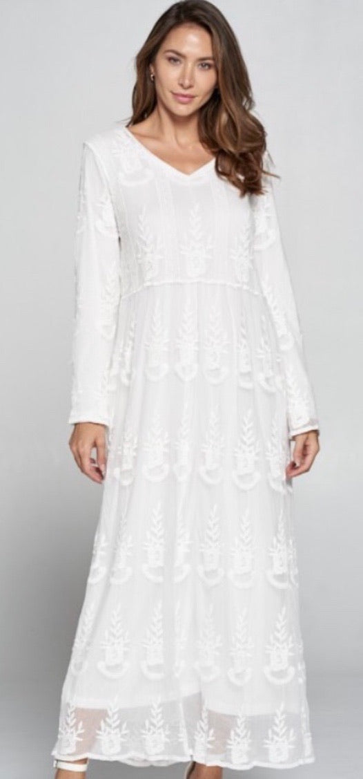 Trinity White Lace Maxi - MISH Fashion and Swim