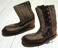 Boots made of military fabric, felt liningFloby Överskottslager
