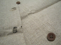 Cushion covers in linen with button closureFloby Överskottslager