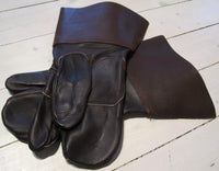 Gloves in leather, with collarFloby Överskottslager
