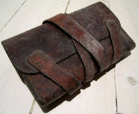 Leather case with long cover strap w/o, usedFloby Överskottslager