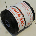 Spool yarn, black cottonFloby Överskottslager