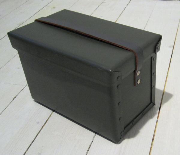 Military storage box with leather strapFloby Överskottslager