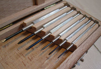 Screwdriver set in wooden box, precisionFloby Överskottslager