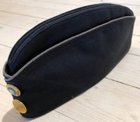 Boat cap gray blue with gray border and tights, used in good conditionFloby Överskottslager
