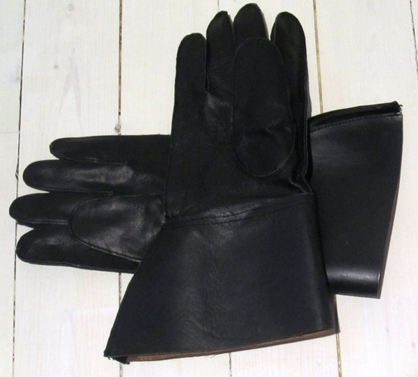 Gloves mc model in leather with collar-Floby surplus stock