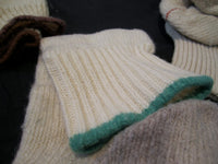 Sock military white with colored border, use-Floby Överskottslager