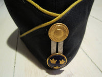 Marine cap navy blue with yellow borderFloby Överskottslager