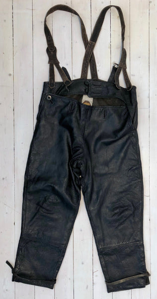 Trousers MC in black leatherFloby Överskottslager