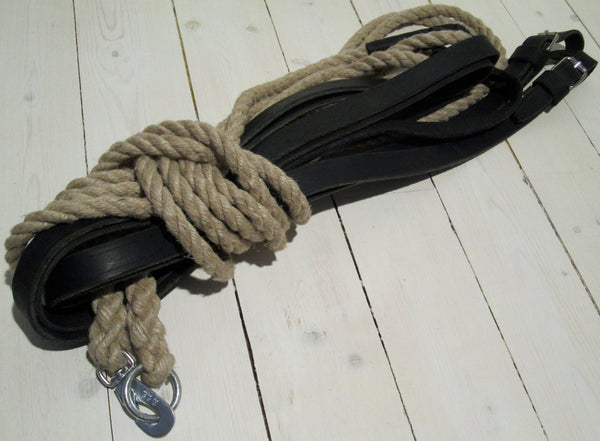 Combi stitch leather / ropeFloby Överskottslager