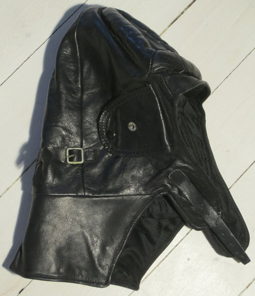 Leather Hood black-Floby Överskottslager