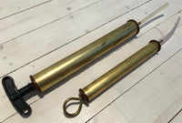 Suction and pressure gun in brass, less-Floby Överskottslager