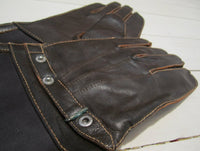 Gloves mc model in leather with collarFloby Överskottslager