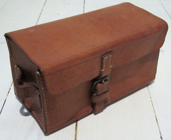 Storage case in leather for horse care equipment-Floby Överskottslager