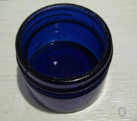 Glass jar blue, without lidFloby Överskottslager