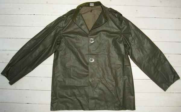 Rain jacket military in rubberized weaveFloby Överskottslager