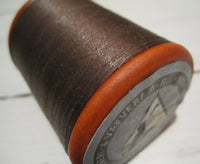 Linen wire brown on wooden roll, 50g-Floby Överskottslager