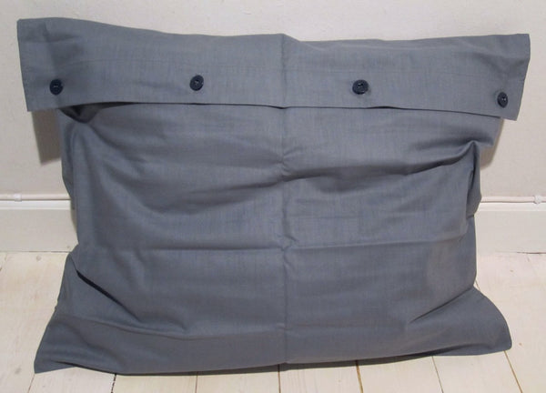 Cushion cover in gray blue cottonFloby Överskottslager