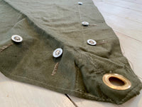 Folding tab/button tents