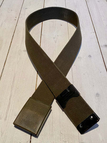 Leash strap in green fabric, used