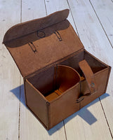 Leather storage case for horse medical equipment