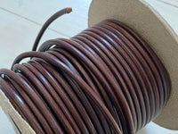Leather cord, round