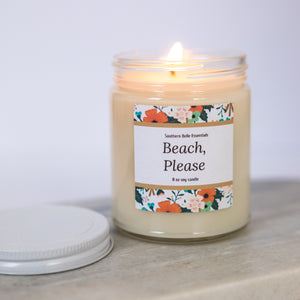 BEACH, PLEASE | 8 OZ SOY CANDLE