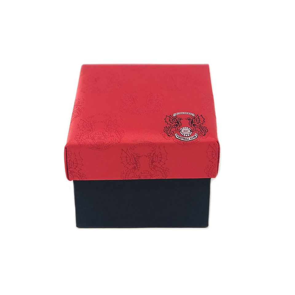 Boxed tie set with cufflinks