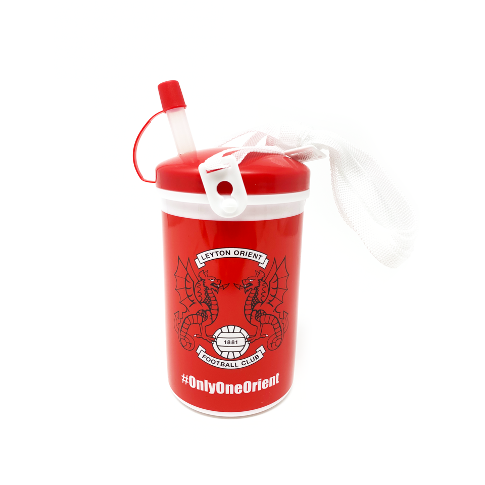 Kids Flask with Straw & Strap