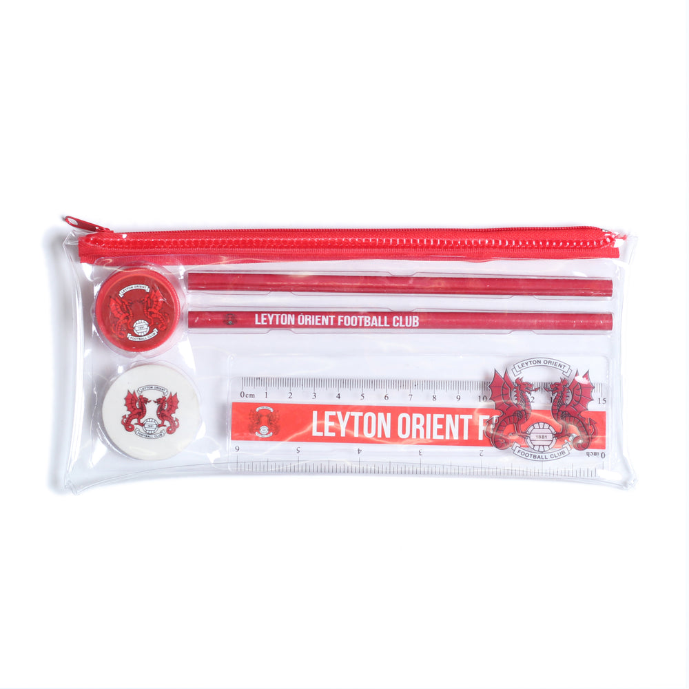 Stationery Set - Clear Pencil Case